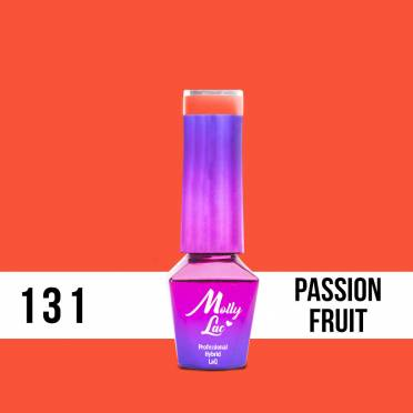 Lakier hybrydowy Molly Lac Bubble Tea Passion Fruit 5ml Nr 131